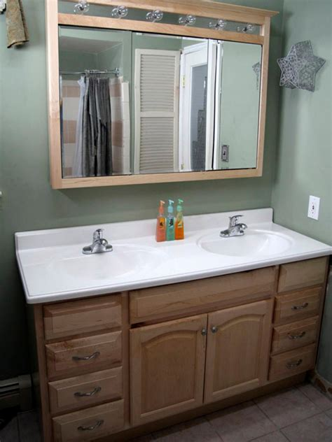 how to install a dual mount kitchen sink installing a bathroom vanity hgtv