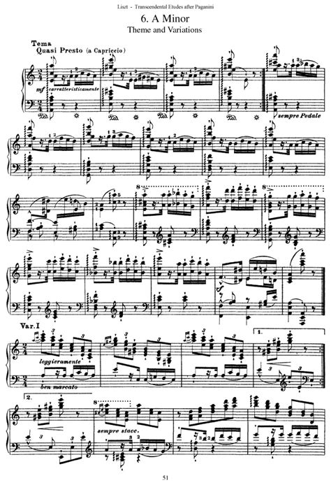 s 140 etude no 6 theme and variations free sheet music