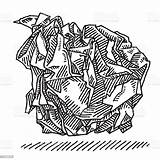 Crumpled Drawing Ball Papier Sketch Clipart Clip Carta Bola Grafiken Zerknittertes Papel Propje Cartoons Increspata Illustrazioni Disegno Istock Symbole Desenho sketch template