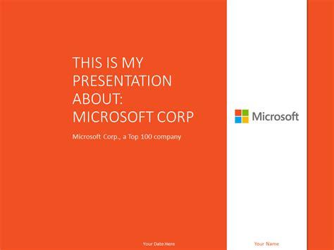 microsoft powerpoint template orange presentationgo