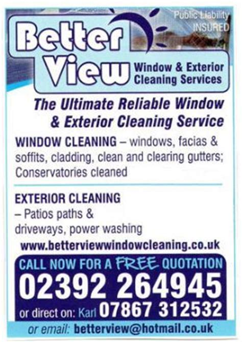 view window cleaning services waterlooville