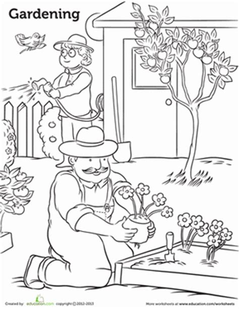gardening worksheet educationcom