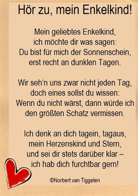 fuers enkelkind geschrieben von oma undoder opa