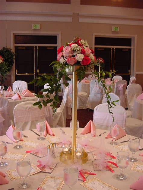 table centerpieces reception decorations photo