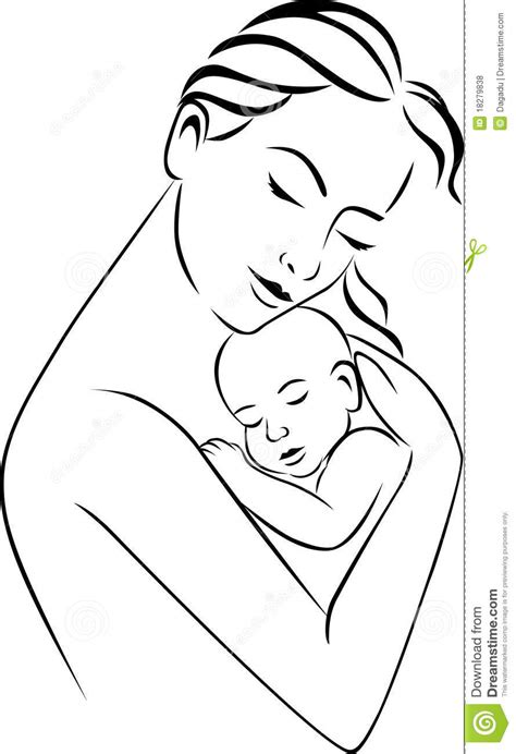 Mother and baby stock vector. Illustration of life, clean