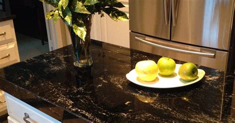 Milky Way granite Black kitchen counters   Kitchens