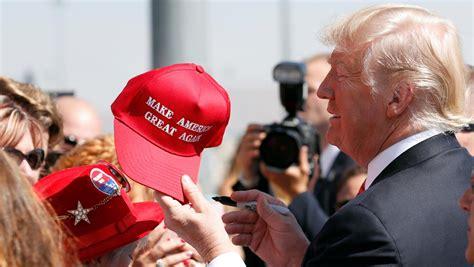 trump maga hat donald merchandise president american america accomplishment again campaign merit does immigration washington point mean plan spending woman