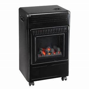 Poele A Gaz Avec Thermostat : po le gaz effet flamme butagaz 3400 w castorama ~ Premium-room.com Idées de Décoration