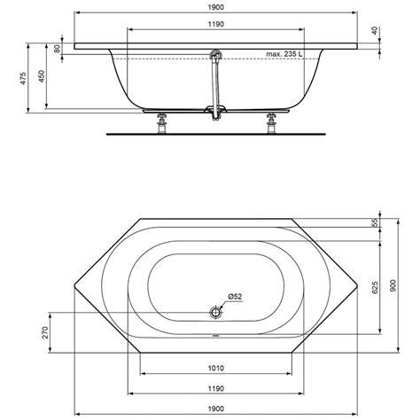 Sechseck Badewanne Maße by Ideal Standard Connect Air Sechseck Badewanne 190 X 90 Cm