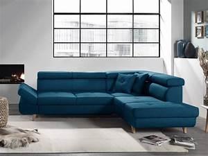 Canapé D Angle Bleu Canard : linea canap d 39 angle droit convertible scandinave l ~ Nature-et-papiers.com Idées de Décoration