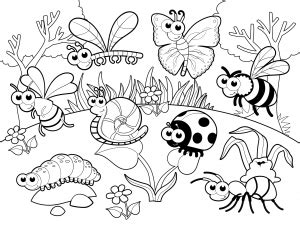 insects amp bugs archives kidspressmagazine 391 | detailed coloring page bugs garden