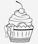 Muffin Coloring Cupcake Frosting Draw Icing Line sketch template