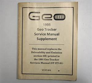1991 Geo Tracker Service Manual Supplement Used Average