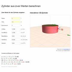 Durchmesser Berechnen Zylinder : lektion ste05 zylinder matheretter ~ Themetempest.com Abrechnung