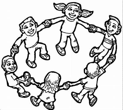 Coloring Playing Children Childrens Clip Printable Colouring