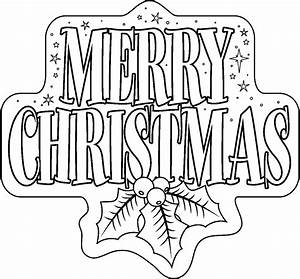 Pics For > Merry Christmas Black And White Clipart