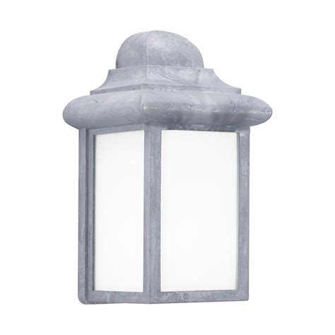 sea gull lighting mullberry hill 1 light pewter outdoor 8 75 in wall lantern sconce 8788 155