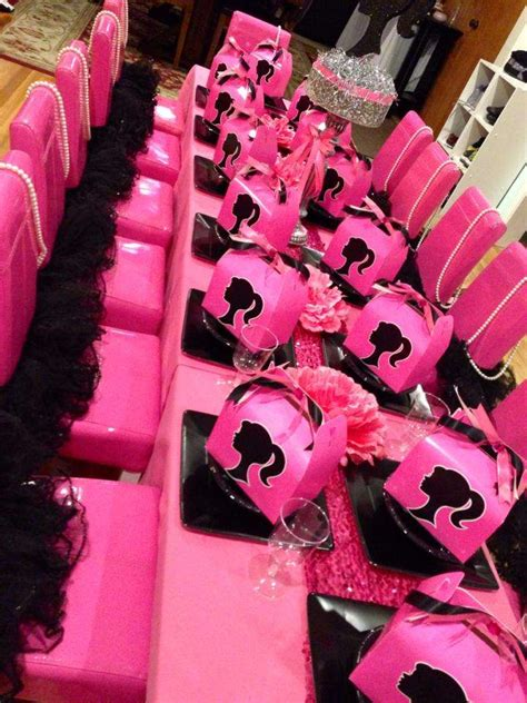 barbie silhouette birthday party ideas photo