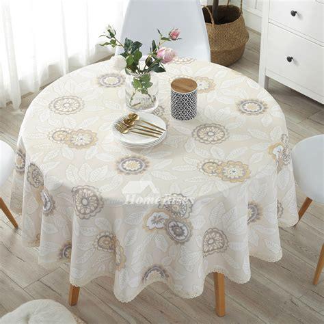 modern cotton linen cheap tablecloths    beige