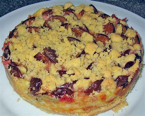 pflaumenkuchen mit pudding und streusel von sissimuc