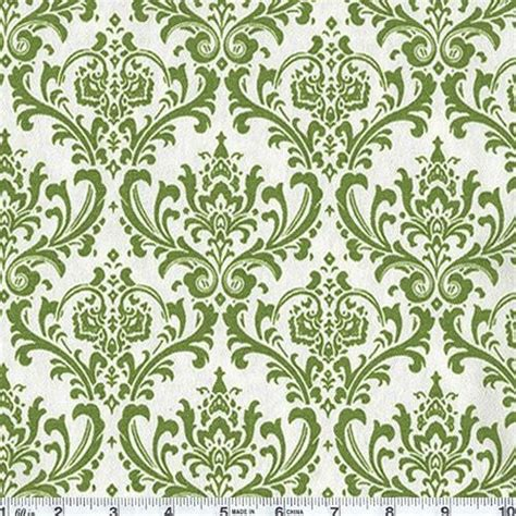 Madison Wallpaper Shamrock Whitegreen Damask By