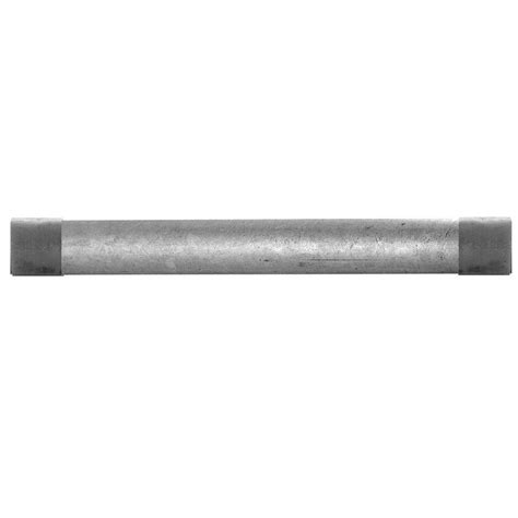 galvanized pipe l 1 in x 10 ft galvanized steel pipe 565 1200hc the home