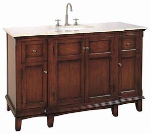 shop houzz legion furniture 53 inch traditional single With 53 inch bathroom vanity