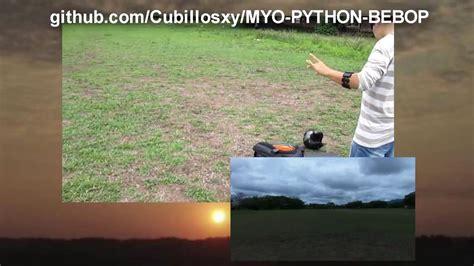 fliying parrot bebop drone  myo armband youtube