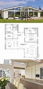 Bungalow Mit Pultdach : bungalow mit pultdach fassade au en modern mit fachwerk ~ Lizthompson.info Haus und Dekorationen