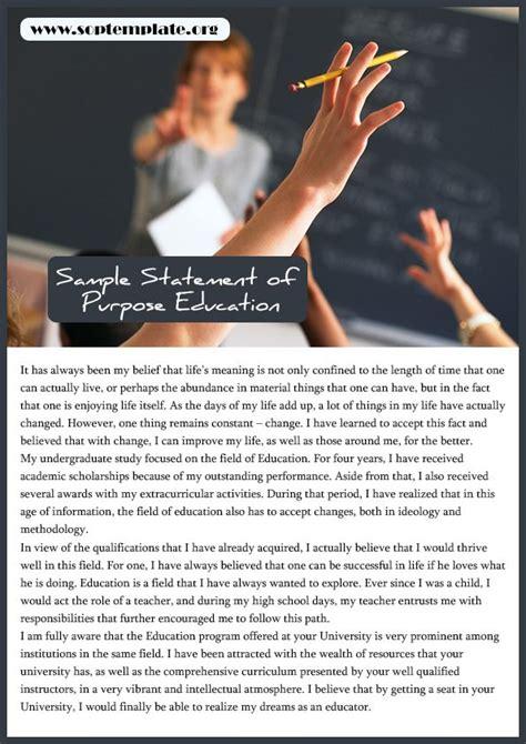 sample statement  purpose education sop
