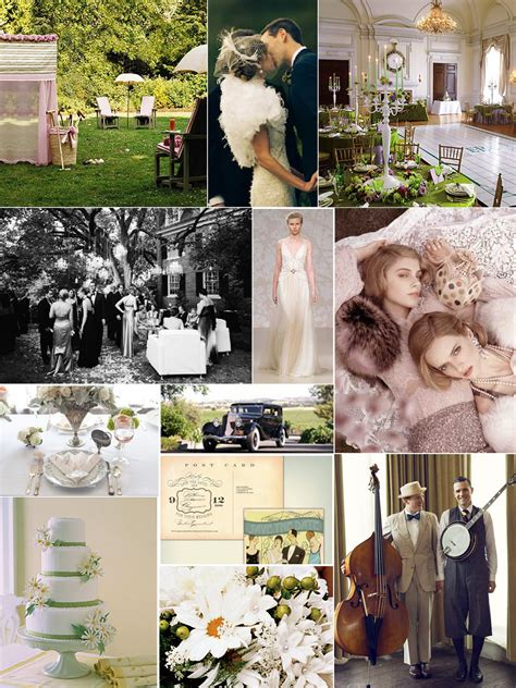 Bridal Bubbly: The Great Gatsby Inspiration Board