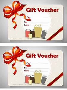 free printable gift voucher template birthday card for With homemade christmas gift certificates templates