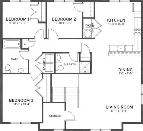 3 bedroom 1 3 4 bath flats ashland place