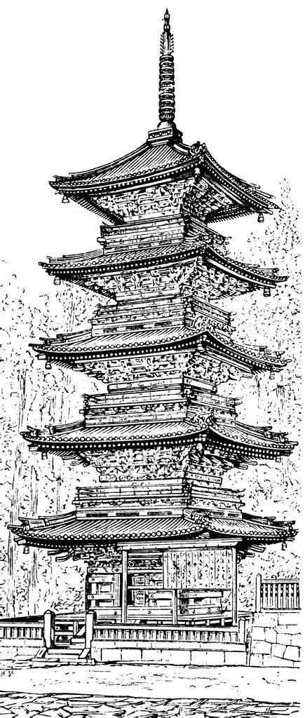 pagoda clipart