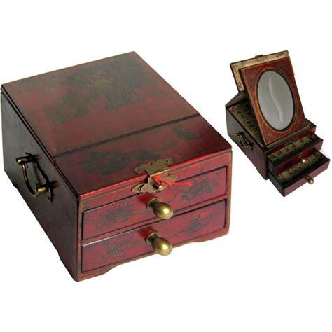 coffret 224 bijoux en bois avec miroir magasin du meuble