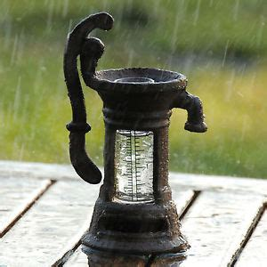 cast iron novel decorative rain gauge ebay