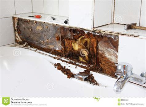 water damage   bathtub stock image image