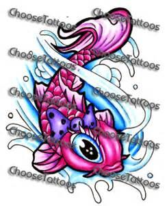 Girly Koi Fish Tattoo Designs