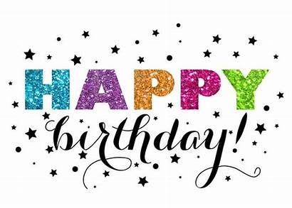 Birthday Happy Clipart Glitter Wishes Greetings