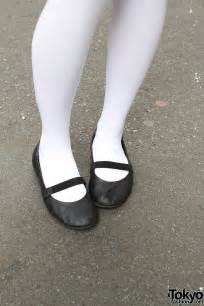 White Tights Mary Jane Shoes