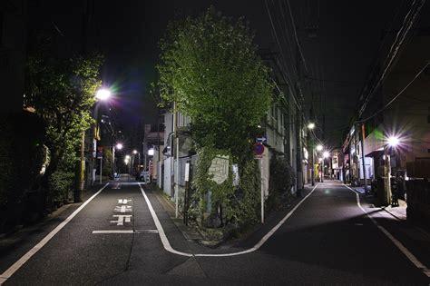 cityscape photography japan night street light