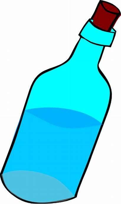 Bottle Clip Glass Water Clipart Cartoon Bottled