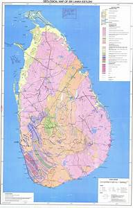 Geological Map Of Sri-lanka  - Esdac