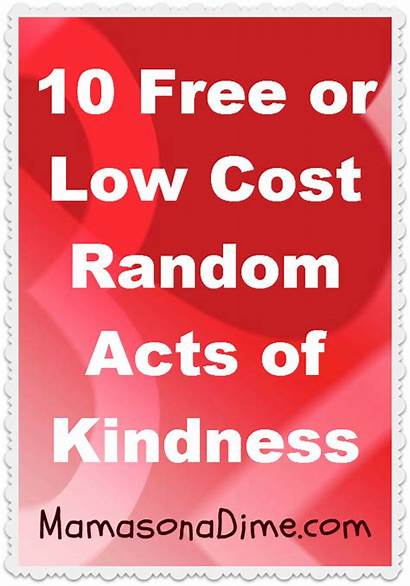 Kindness Acts Random Challenge Cost Act Low