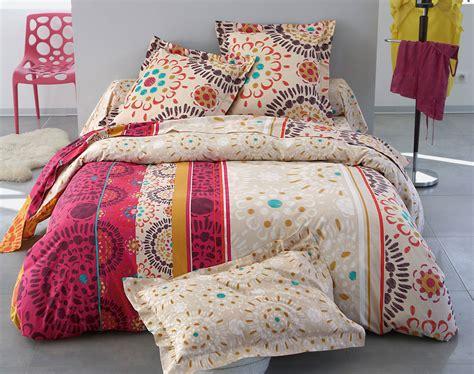 linge de maison strasbourg linge de lit rosaces multicolores becquet