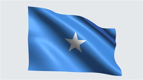Somalia Flag Stock Footage Video
