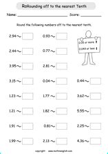 decimal worksheets grade  advance worksheet
