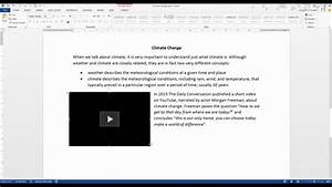 how to embed a youtube video into a word 2013 document With documents 5 youtube video download