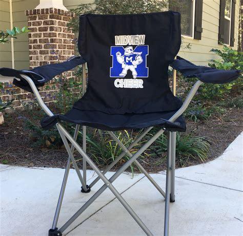 monogrammed chair coaches gift custom folding c chair