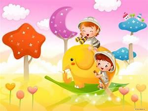 Vector Children Background Wallpapers 07358